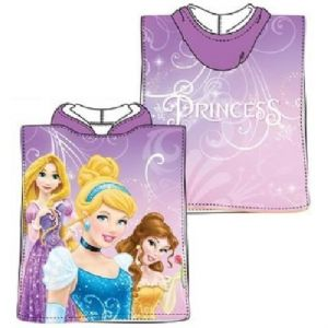 Disney Princess Mini Poncho Towel Purple